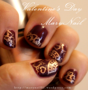 My Valentine's Nails <3