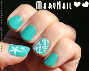 Green Spring Nail Art<3
