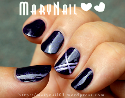 Purple : Light vs Dark By Marynail