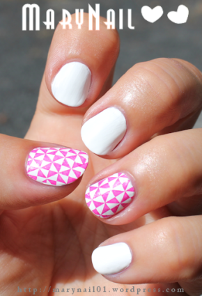 White & Pink By Marynail ;)